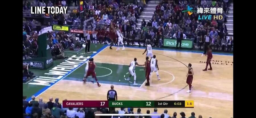 NBA 直播 緯來體育 緯來直播 騎士 公鹿