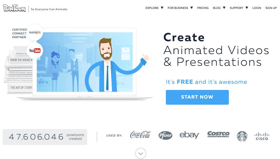 PowToon 動畫製作 行銷影片 免費資源