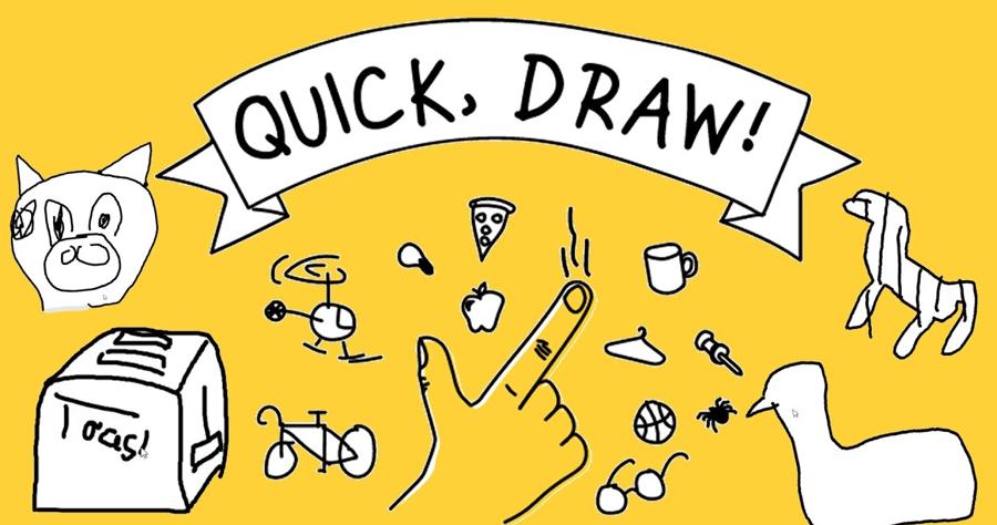 Quick, Draw 畫畫 線上畫畫 人工智慧 類神經網路 AI 遊戲Google