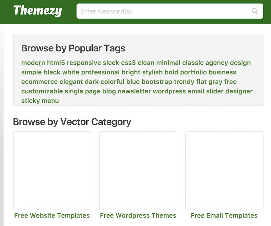 Themezy 網站模版 分類 部落格 商店 網路購物 作品集