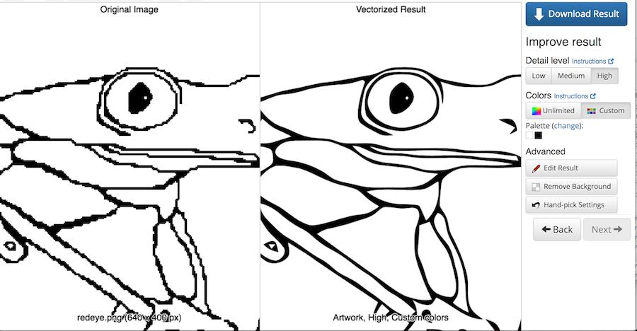 Vector Magic 線上轉向量圖 照片轉向量圖 下載