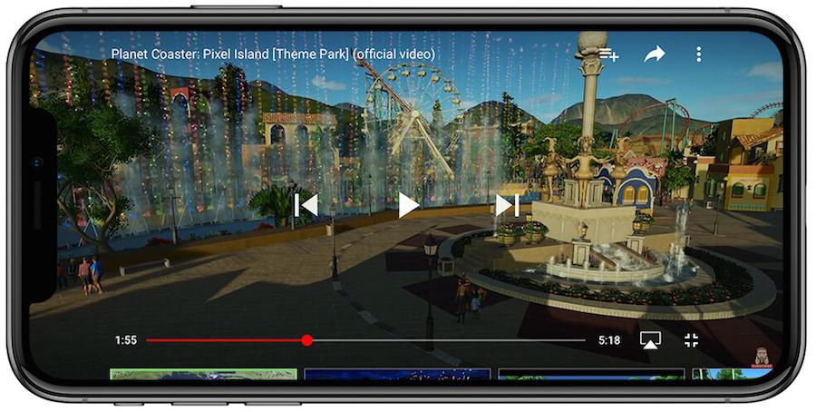Youtube iPhoneX 垂直拍攝 自動切換