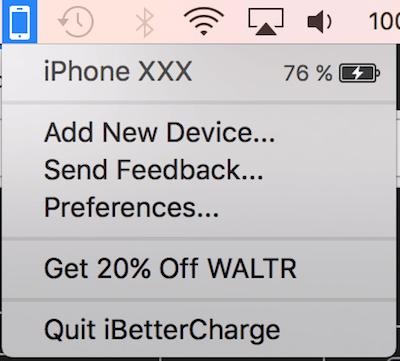 MAc iPHone電量過低 提醒
