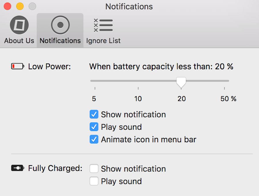 電量過低提醒 iPhone 推播 Mac