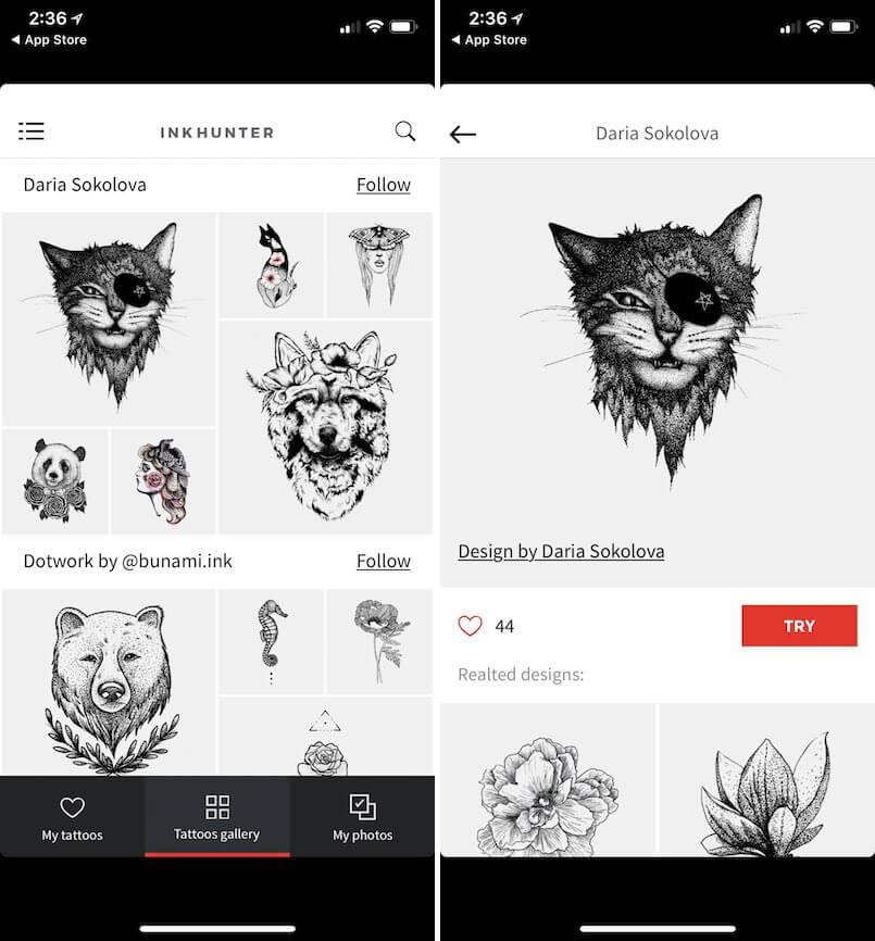 inkHunter 刺青 App AR
