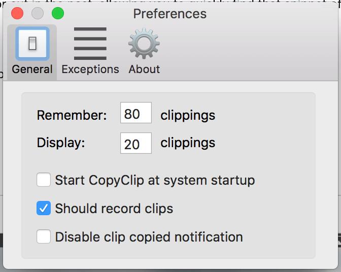 剪貼簿 Mac