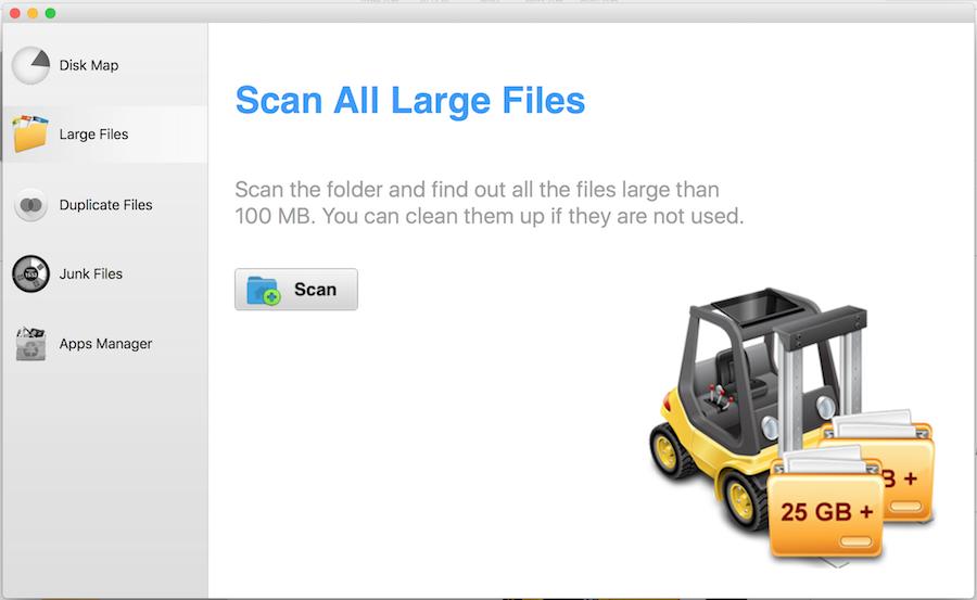 Mac 肥大檔案 大型檔案 掃描