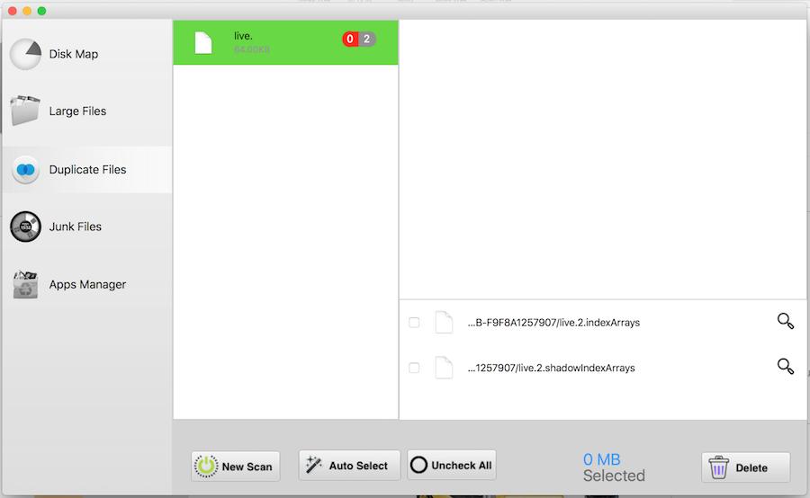 Mac 重複檔案 掃描