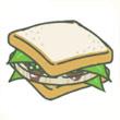 旅行青蛙 蔬菜三明治
