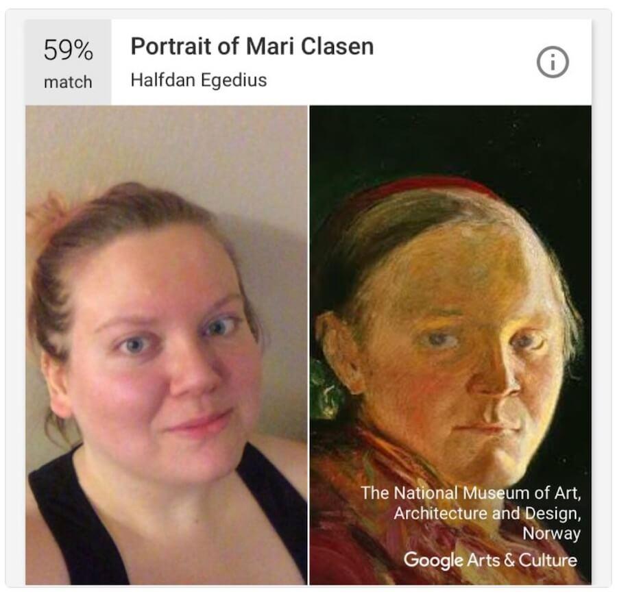 Google 世界名畫 臉部辨識 比對