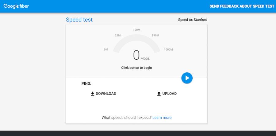 Google fiber 網路速度測試