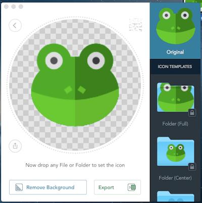 青蛙 Image2icon mac