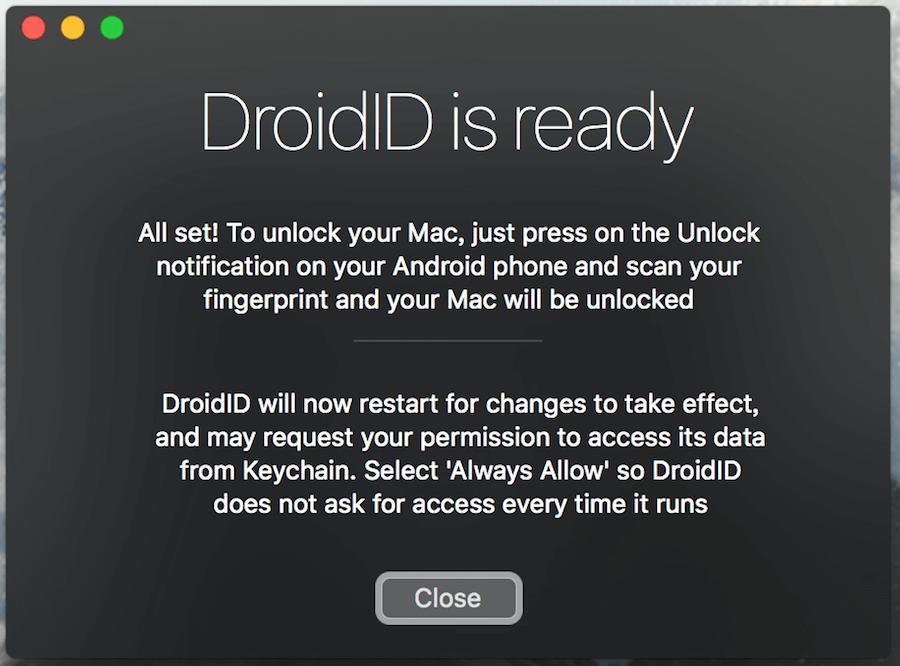 DroidID Mac Android 解鎖