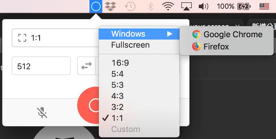 Mac 視窗錄影