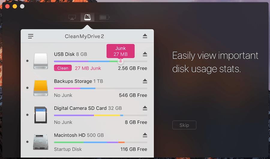 CleanMyDrive 2 Mac 硬碟清理 隨身碟清理