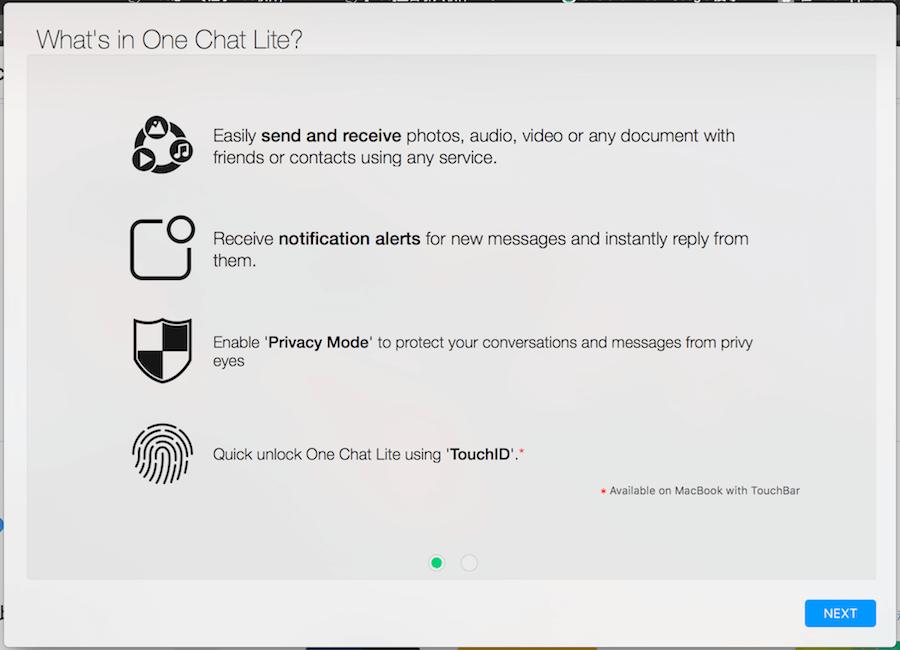 One Chat Lite 聊天軟體 整合 Mac