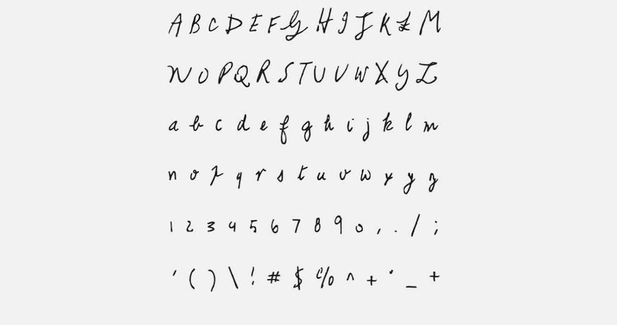 約翰藍儂手寫字體下載