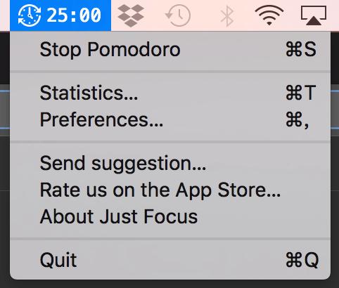 Just Focus 番茄工作法 Mac 專注工具 休息提醒