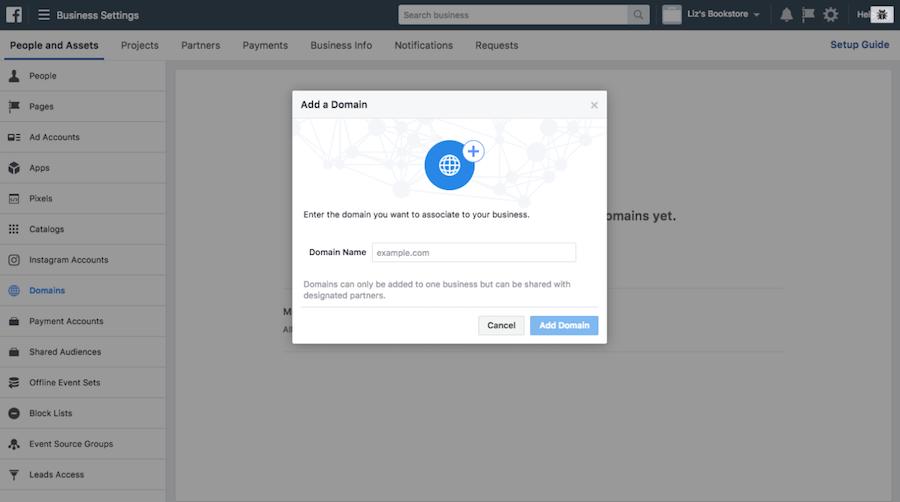 FB 如何進行網域驗證