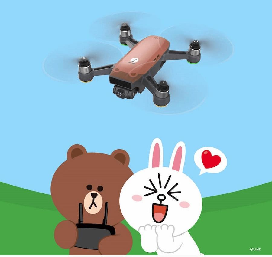 DJI空拍機LINE 熊大