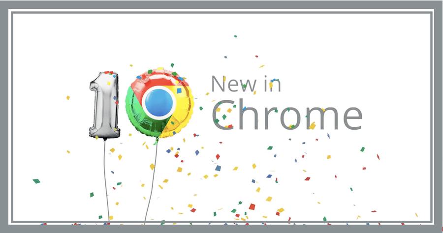 Chrome10周年