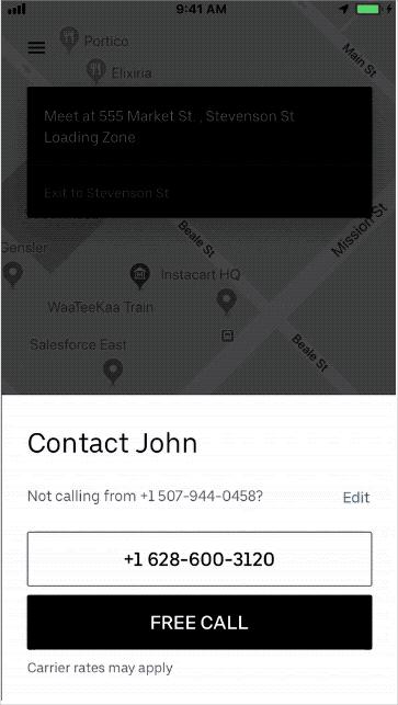 Uber怎麼打給司機