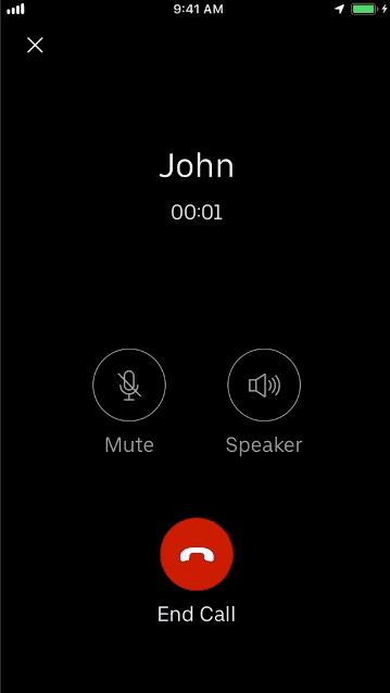 Uber VoIP 免費通話功能
