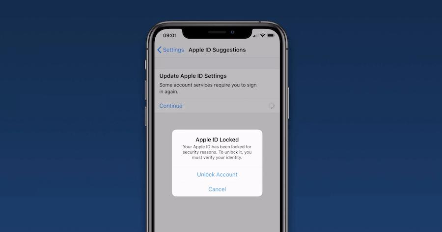 Apple ID 強制登出