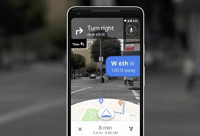 Google Maps AR 導航