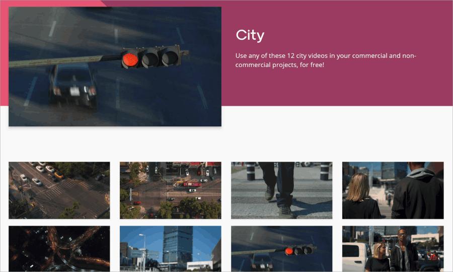可商用城市影片素材下載