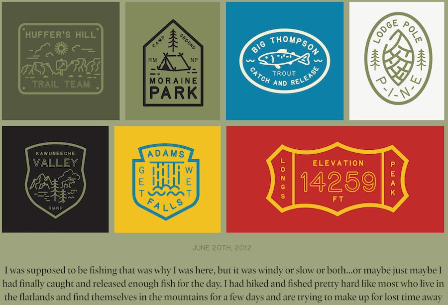 美國國家公園告示牌字型