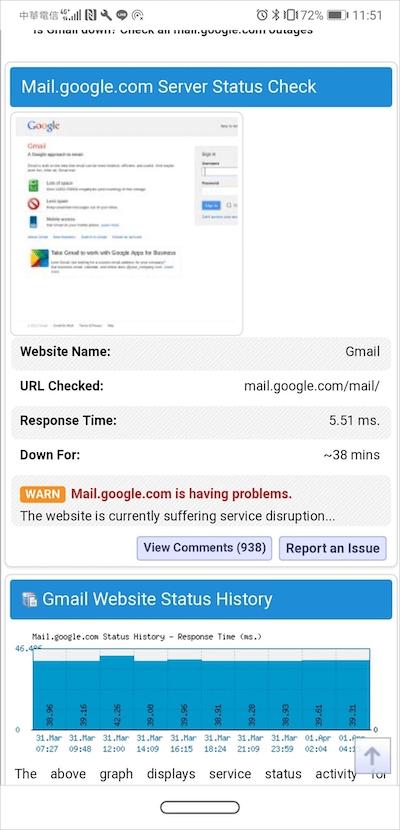 Gmail故障