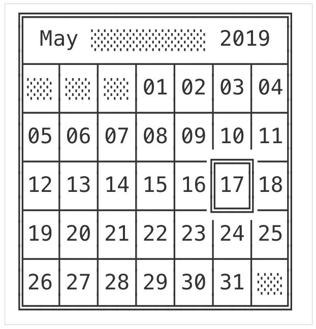 Unicode Calendar