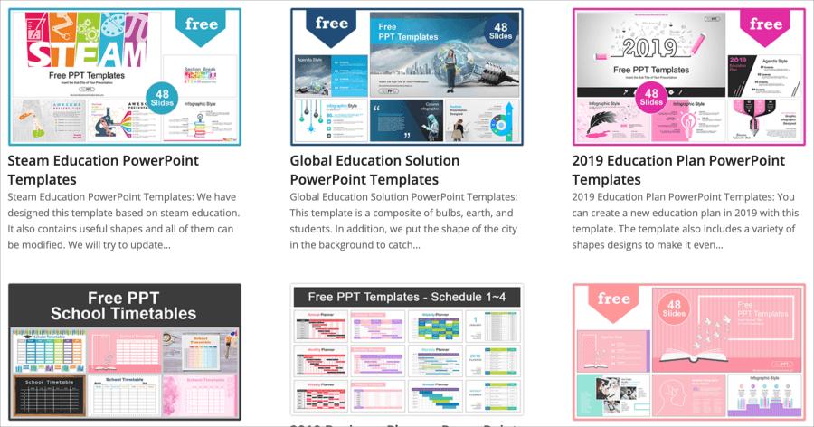 PPT 教育模板下載