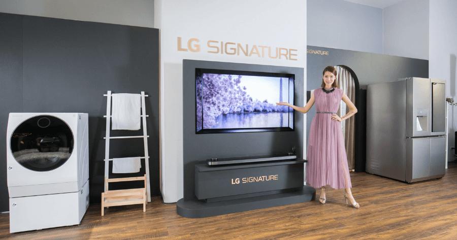 LG SIGNATURE 頂級家電品牌,在台推出電視 洗衣機 冰箱三款產品
