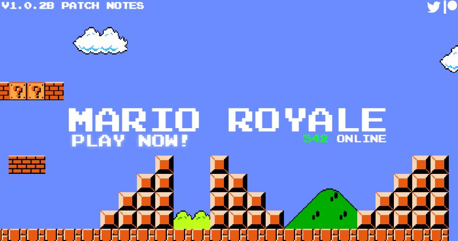 Mario Royale 超級瑪利網頁版,百人大亂鬥超級瑪利