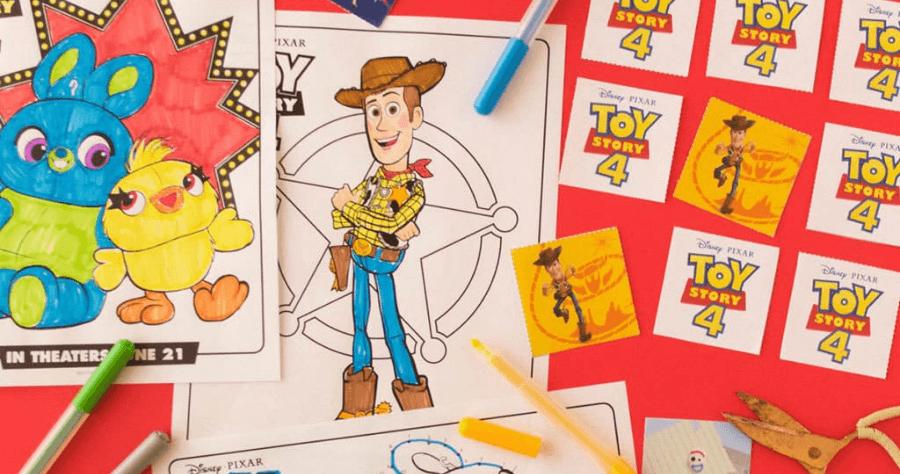 玩具總動員 4 塗鴉著色紙免費下載,家長只要列印一下,小朋友超開心!