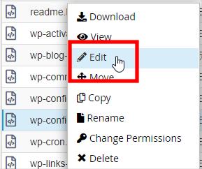 WordPress 資料庫帳號密碼