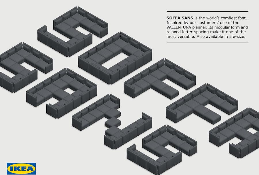 IKEA沙發字體