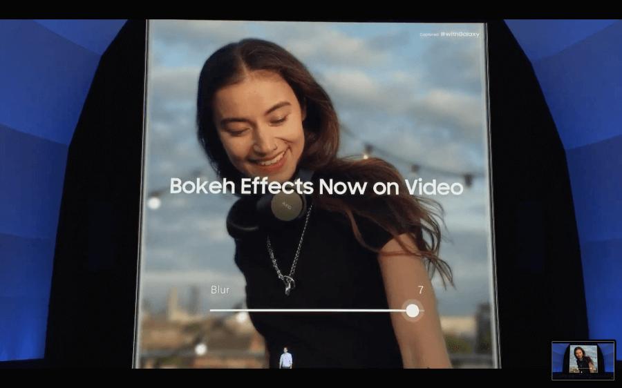 Galaxy Note 10 影片即時景深