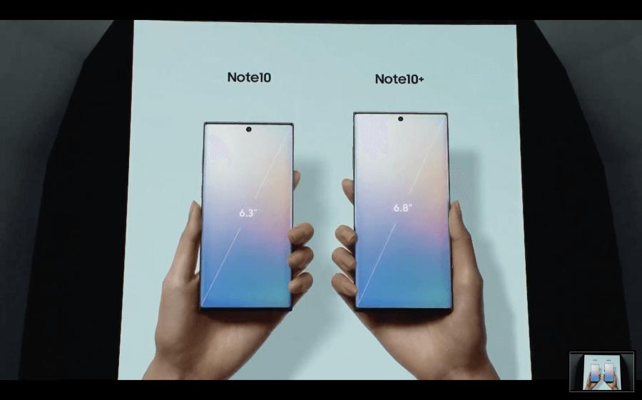 Galaxy Note 10螢幕