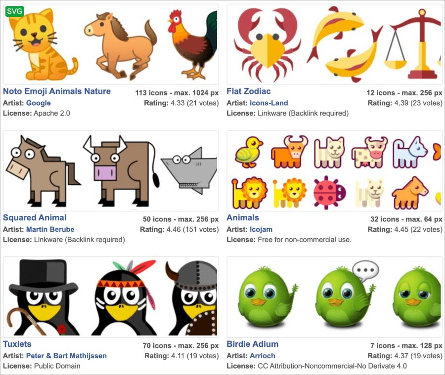 動物可商用去背圖示下載