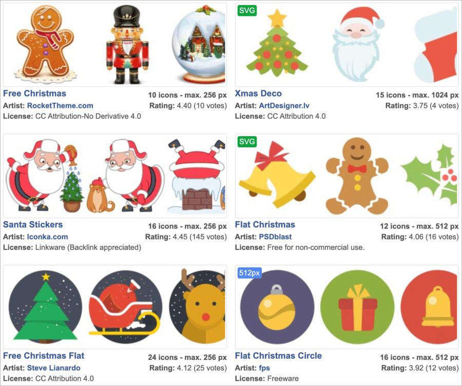 聖誕節可商用去背圖示下載