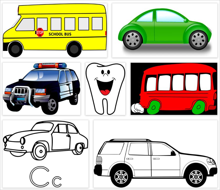 車插畫素材下載