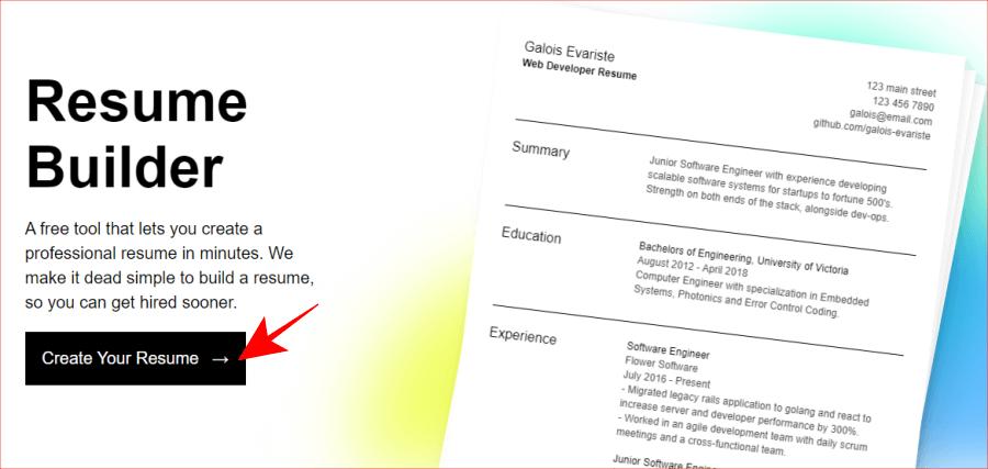 英文履歷表產生器