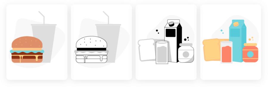 食物插圖下載
