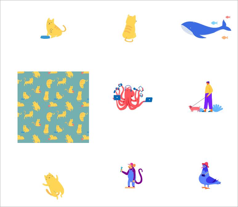 動物插圖下載