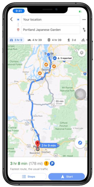 Google 地圖測速