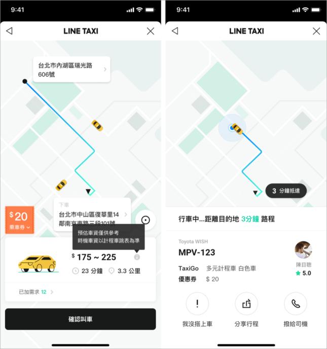 LINE TAXI乘車券
