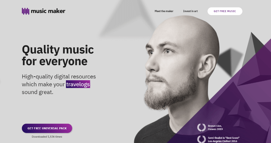 Music Maker 專業音樂素材包下載,可個人使用及商業使用